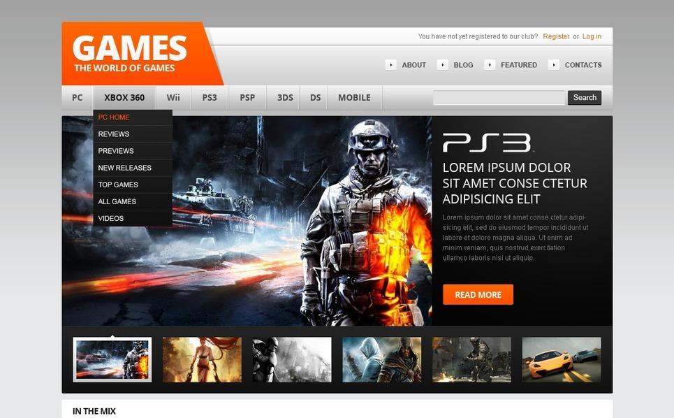 Games WordPress Theme New Screenshots BIG