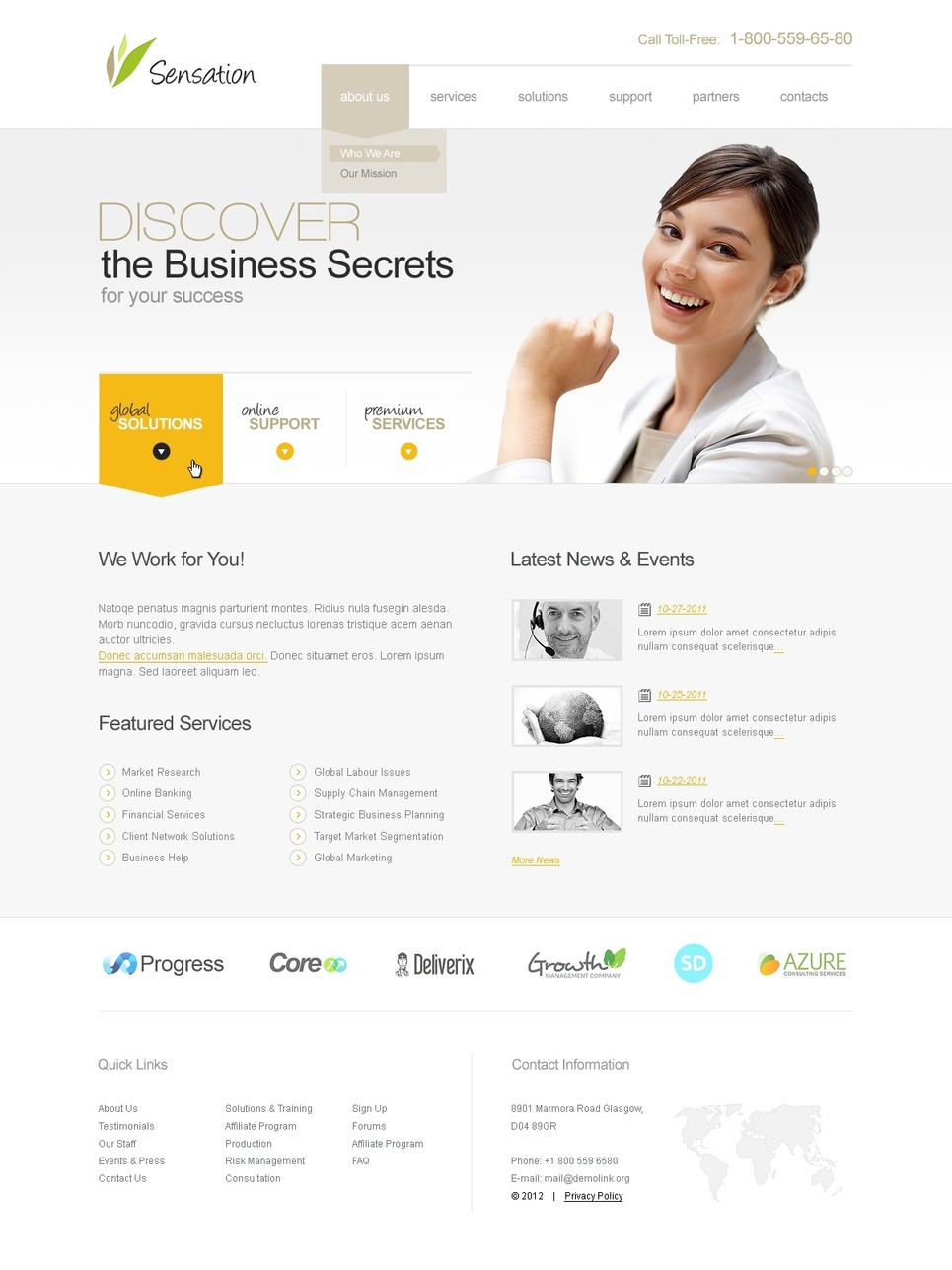 Business Responsive Website Template New Screenshots BIG