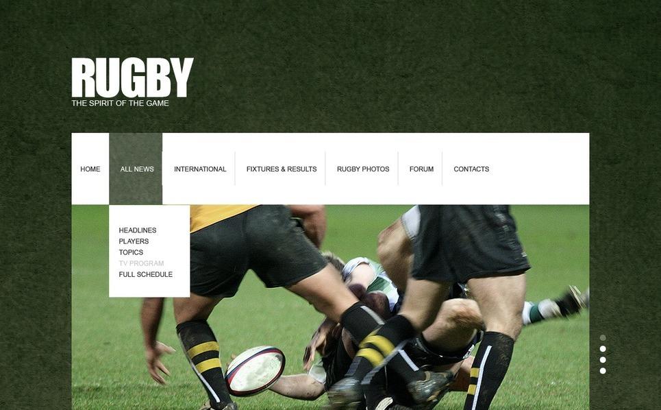 Rugby Website Template New Screenshots BIG