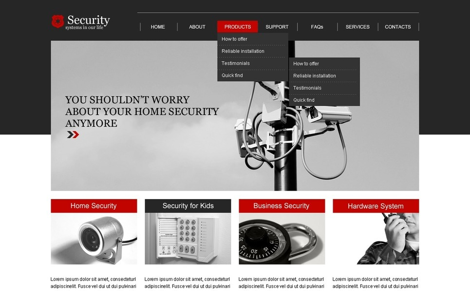 Security Website Template New Screenshots BIG