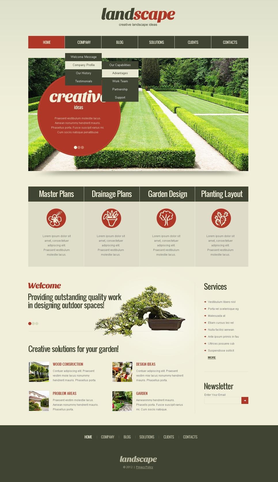 Landscape Design WordPress Theme New Screenshots BIG