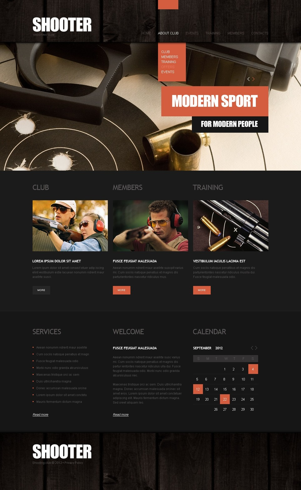 Gun Shop Website Template New Screenshots BIG
