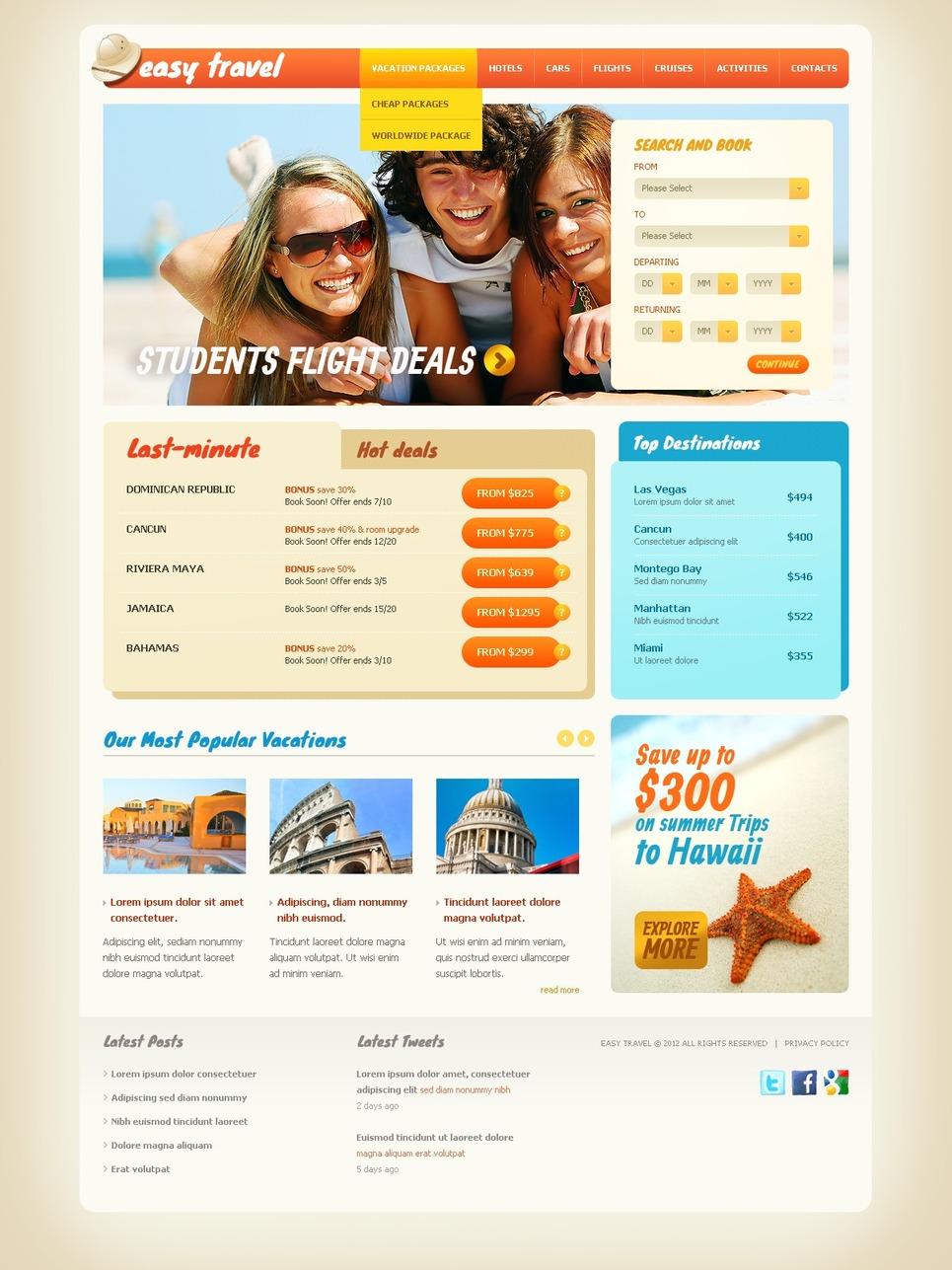 Travel Guide Website Template New Screenshots BIG