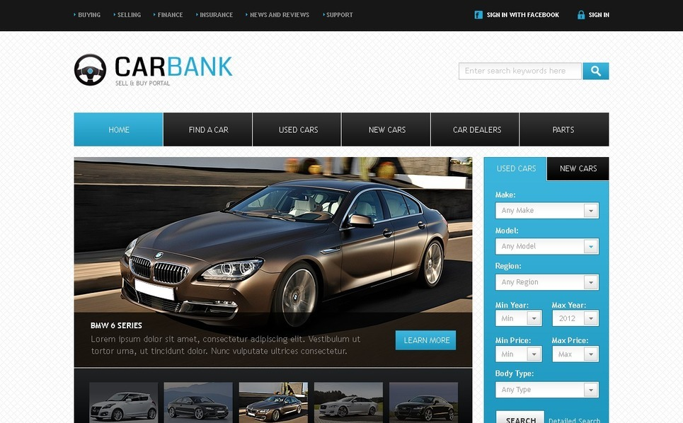 Car Dealer Website Template New Screenshots BIG