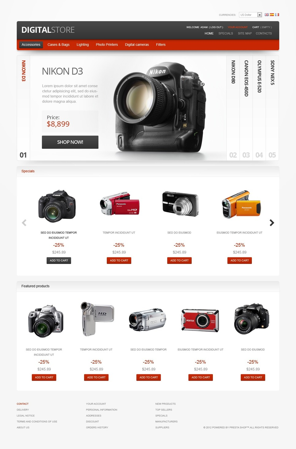 Digital Equipment PrestaShop Theme New Screenshots BIG