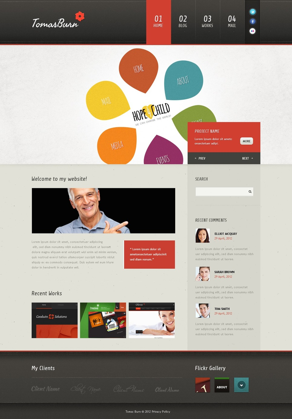 Designer Portfolio Joomla Template New Screenshots BIG