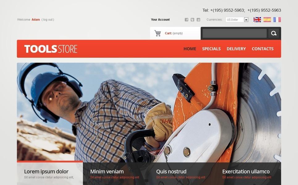 Tools Online PrestaShop Theme New Screenshots BIG