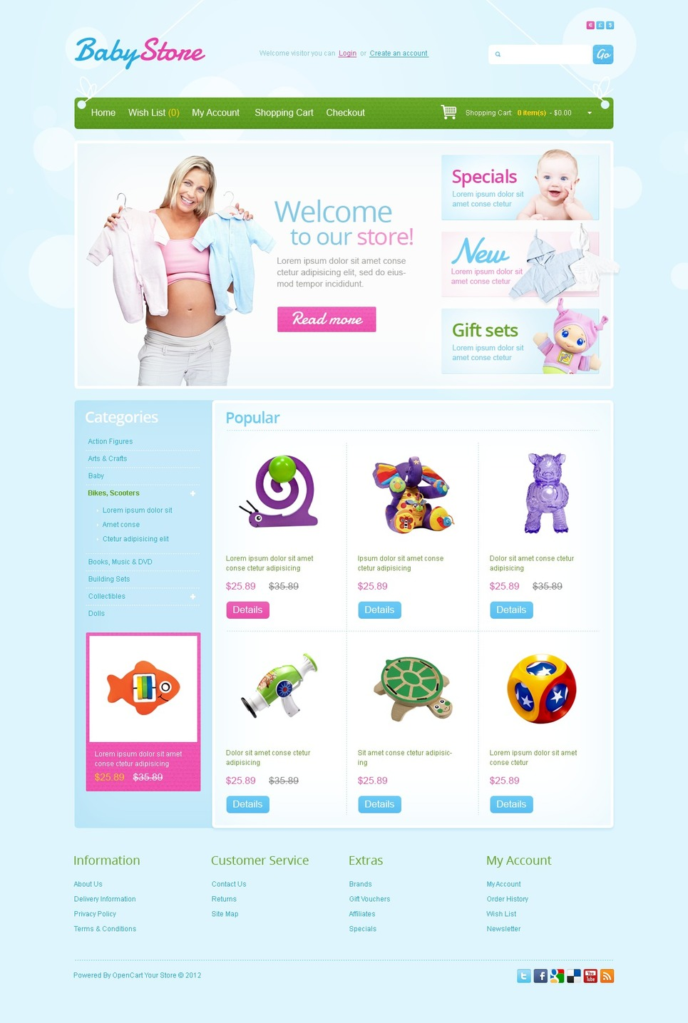 Baby Store OpenCart Template New Screenshots BIG