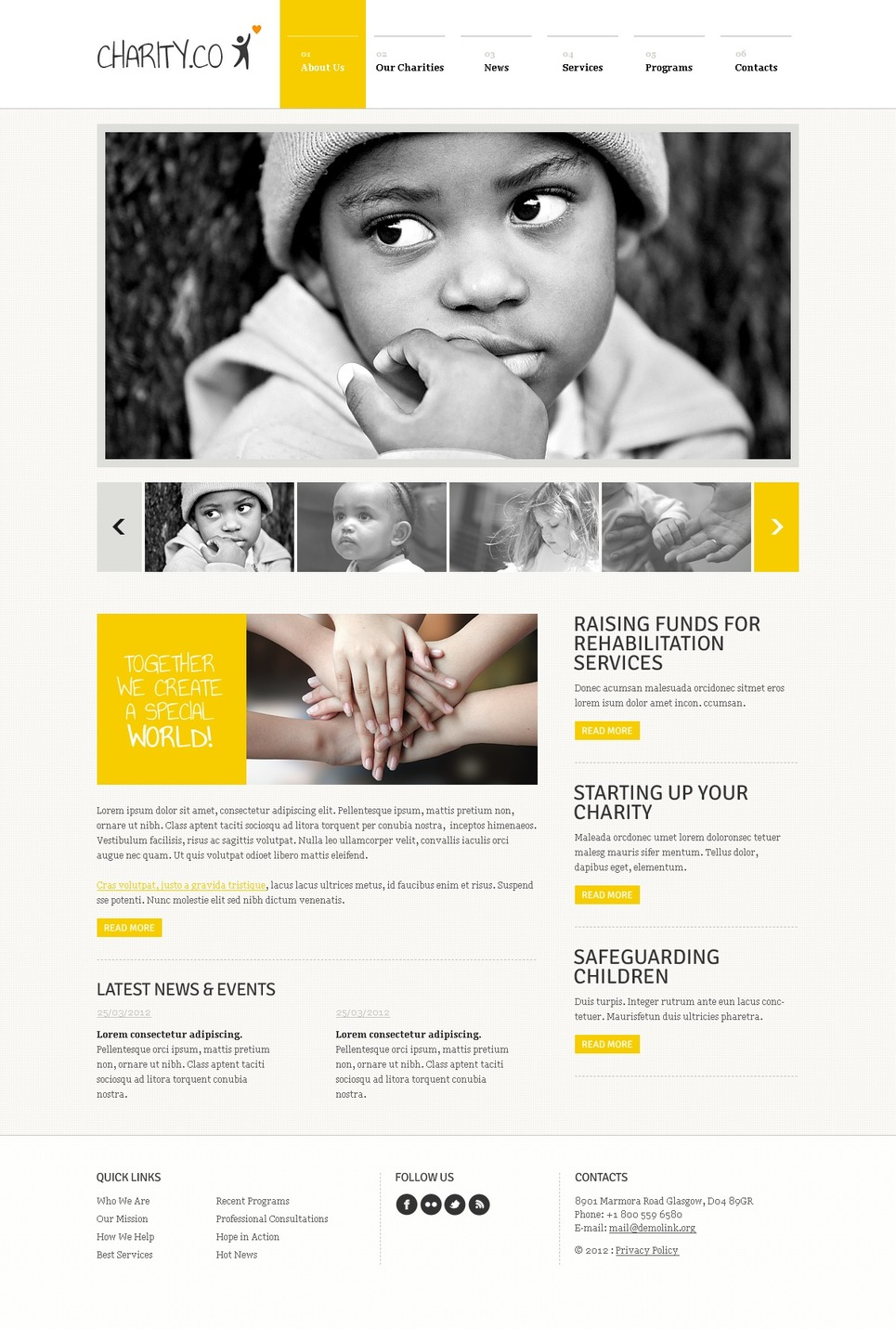 Child Charity Joomla Template New Screenshots BIG