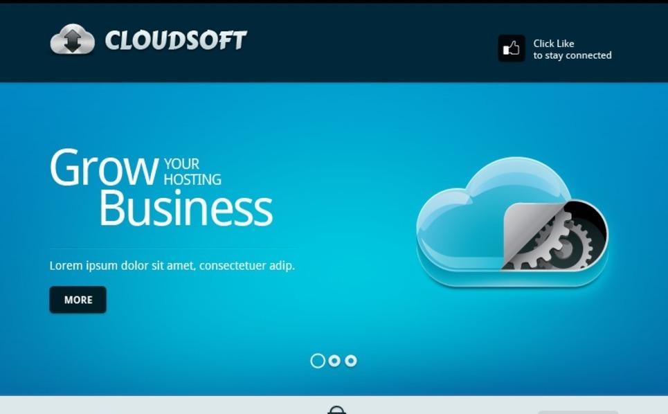 Software Company Facebook Template New Screenshots BIG