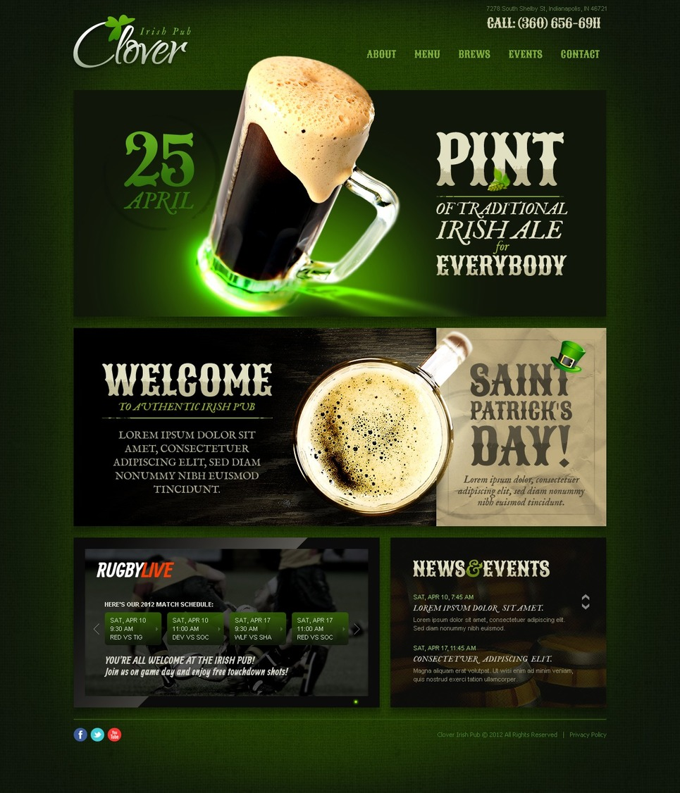 Brewery Website Template New Screenshots BIG