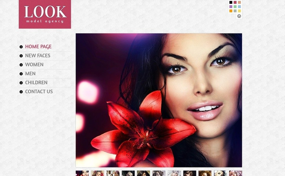 Model Agency Website Template New Screenshots BIG