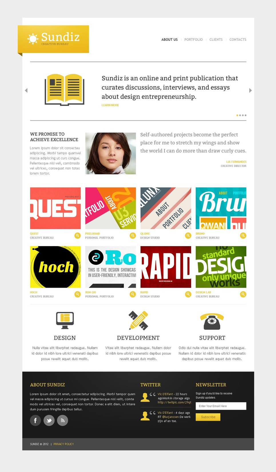 Design Studio Website Template New Screenshots BIG