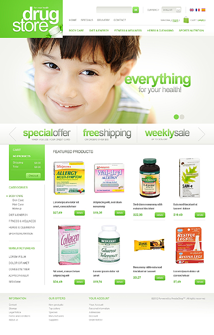 Drug Store - Basic Drug Store PrestaShop Theme