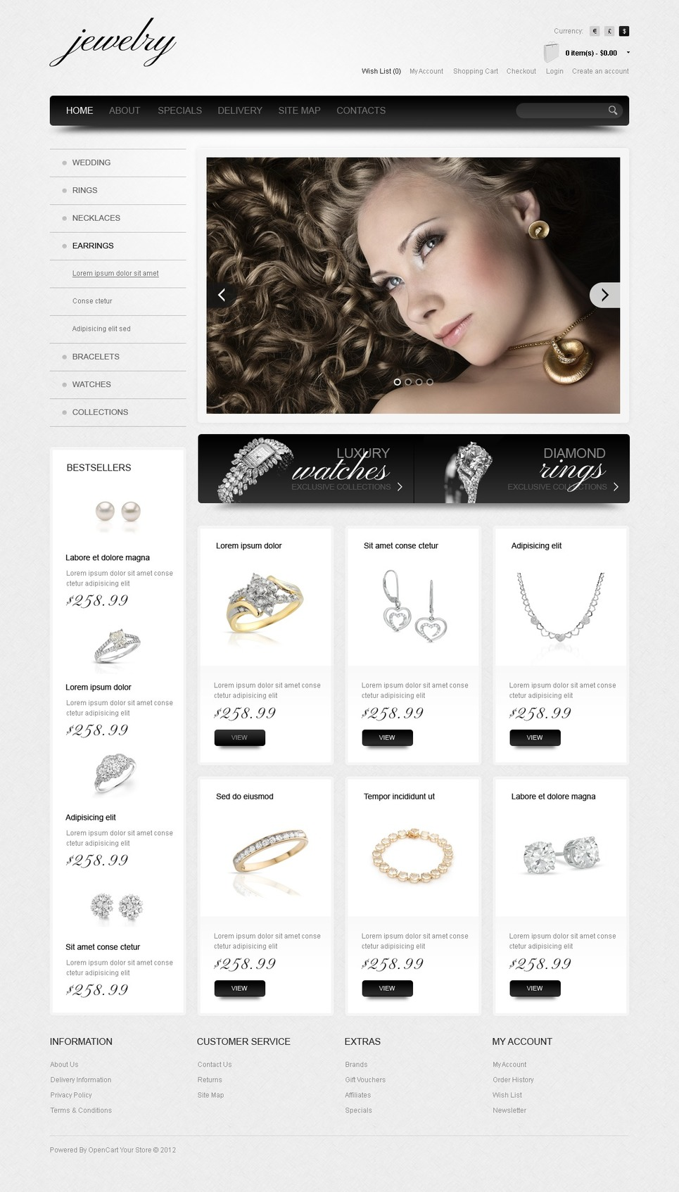 Jewelry & Watches OpenCart Template New Screenshots BIG