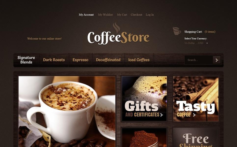 Coffee Store Magento Theme New Screenshots BIG