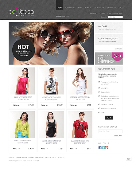 Cool basa - Wonderful Magento Fashion Store Theme