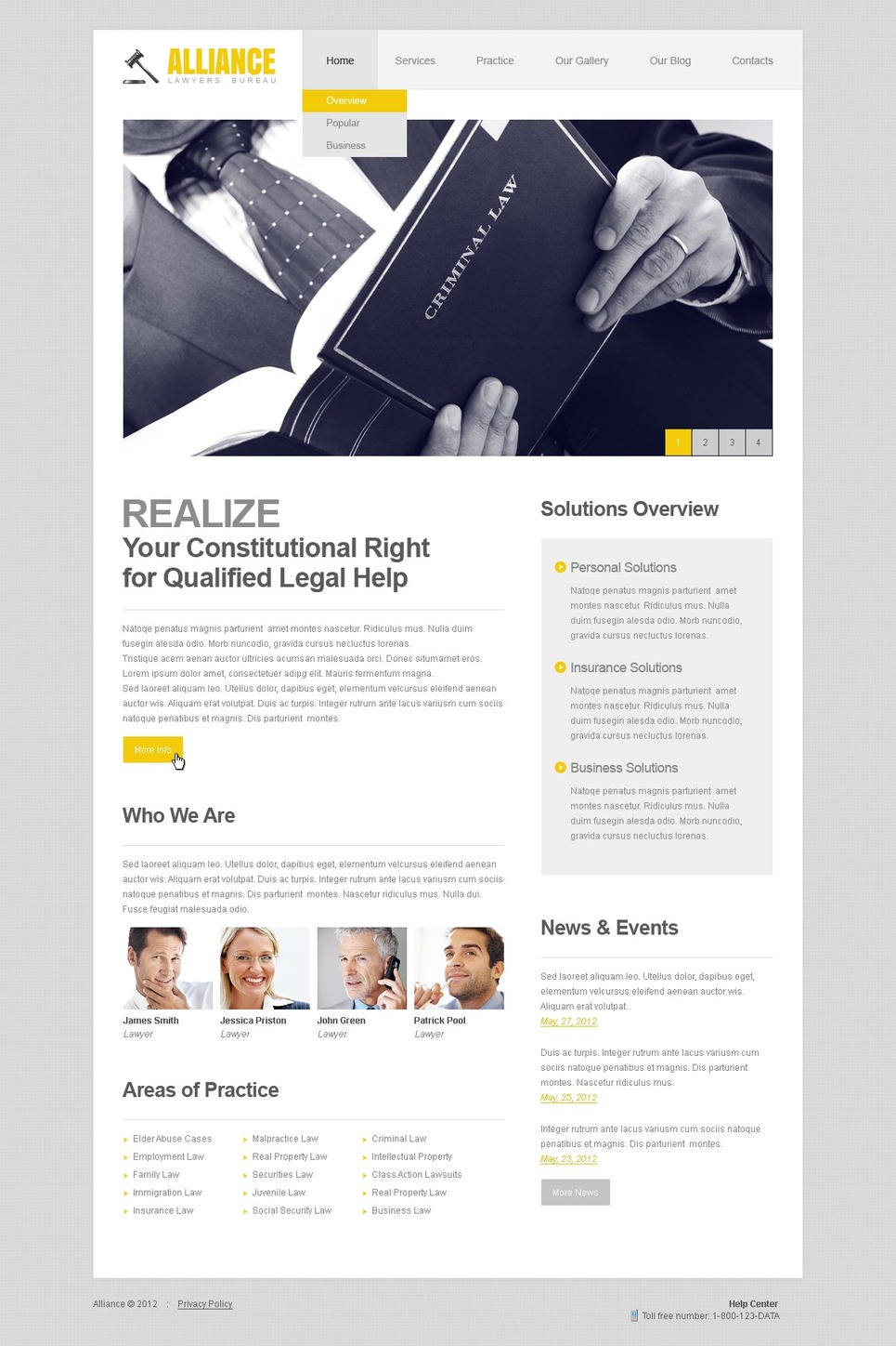 Law Firm WordPress Theme New Screenshots BIG