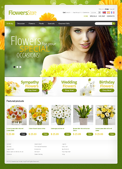 Flower store - Thriving Flower Store PrestaShop Theme