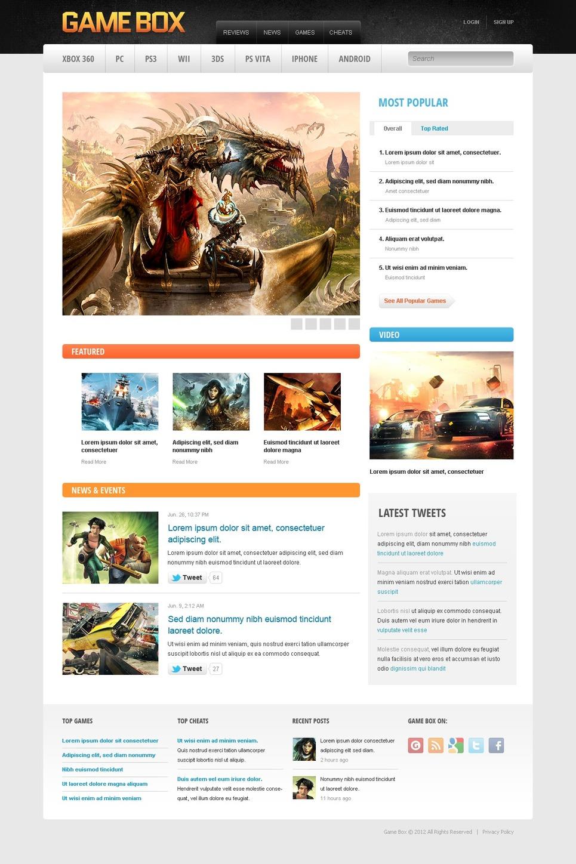 Game Portal Drupal Template New Screenshots BIG