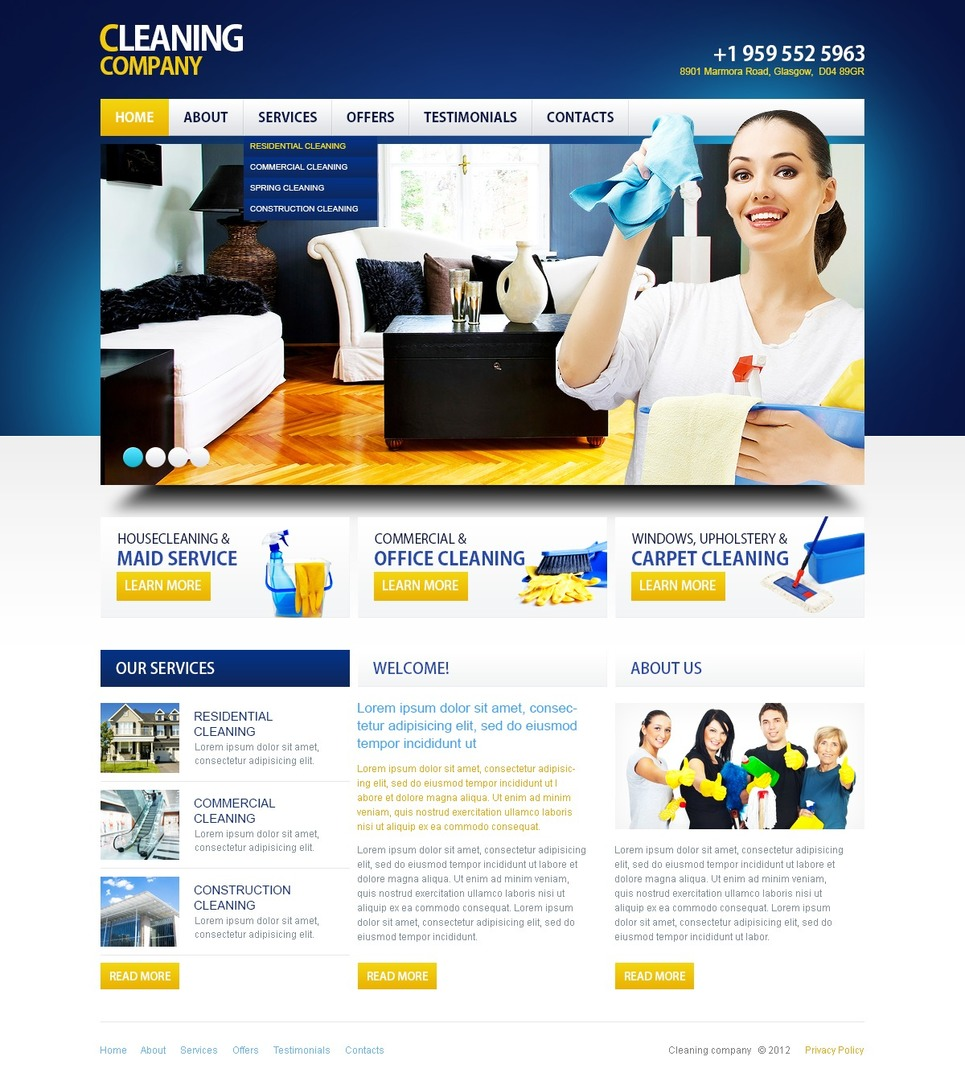 Cleaning Responsive Website Template New Screenshots BIG