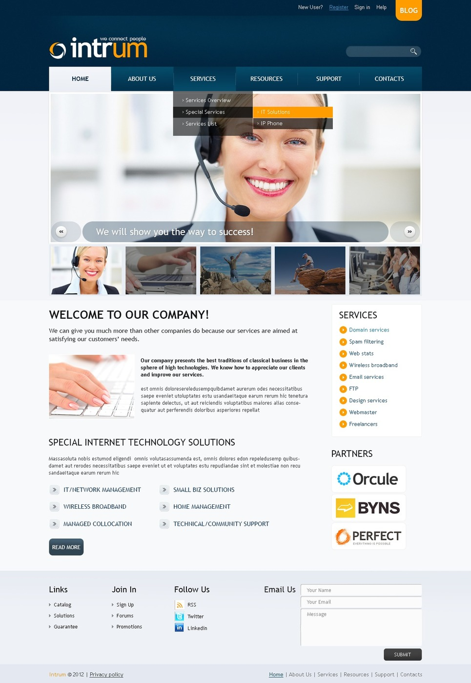 Communications Responsive Website Template New Screenshots BIG