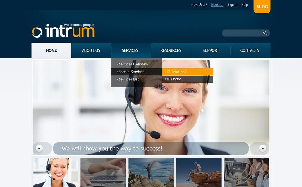 Communications Responsive Website Template New Screenshots BIG
