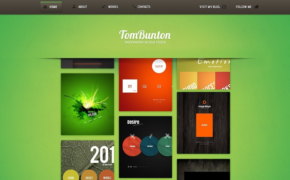 Designer Portfolio Flash Template New Screenshots BIG