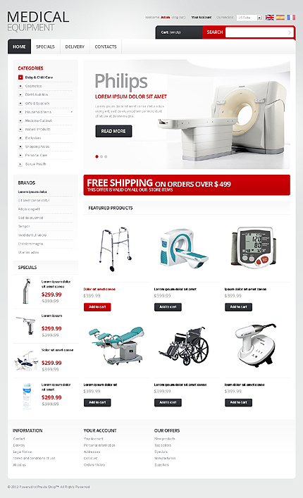 Medical equipment - Best Online Medical and Pharmacy Store PrestaShop Theme