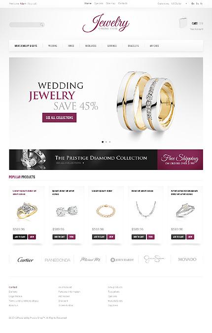 Jewelry store - Dazzling Jewellery Store PrestaShop Theme
