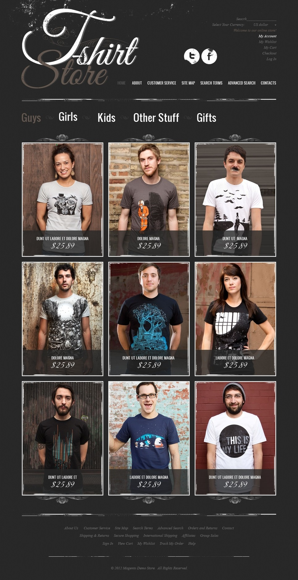 Funny T-Shirts Magento Theme New Screenshots BIG