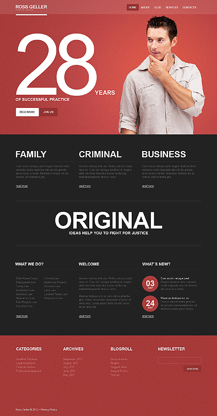 Website Template #39445