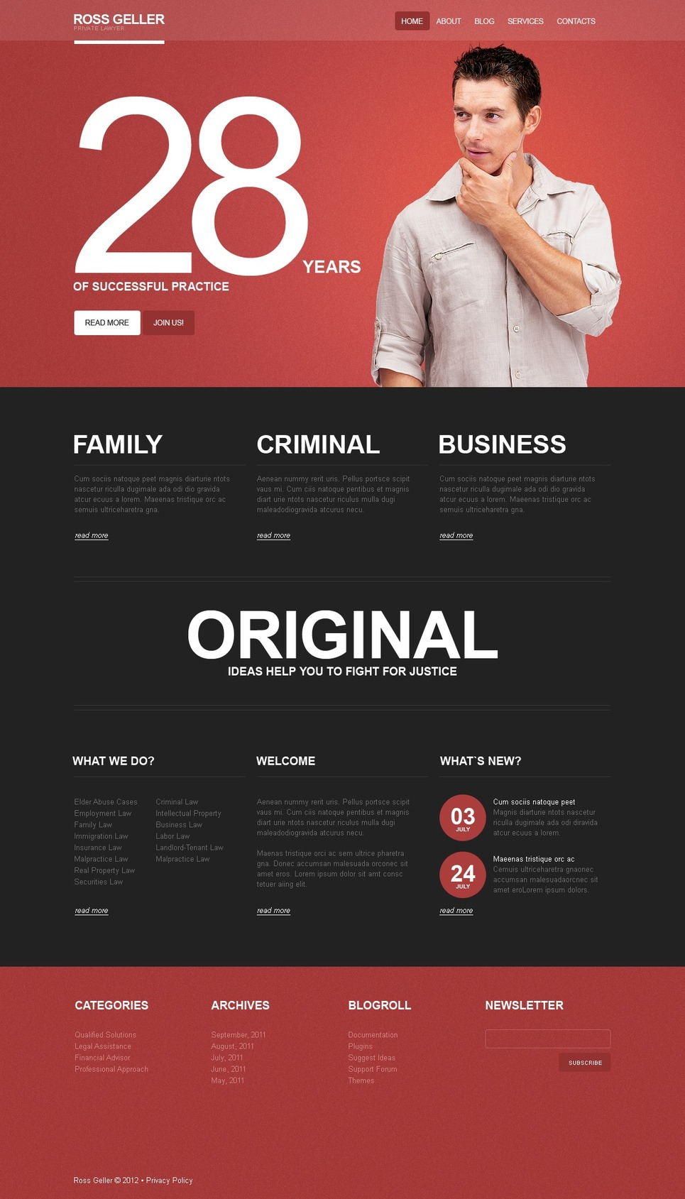 Lawyer WordPress Theme New Screenshots BIG