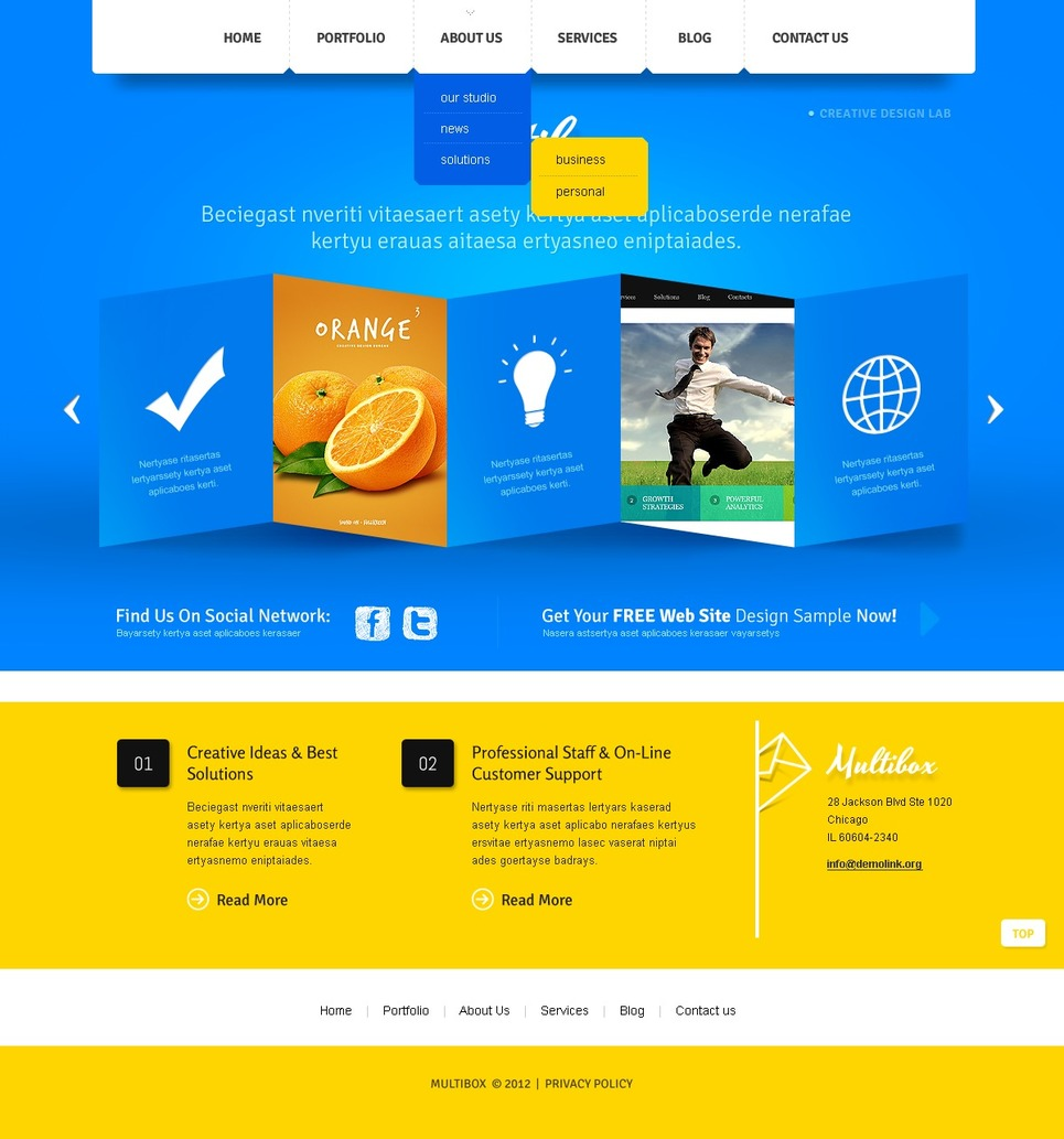 Design Studio Joomla Template New Screenshots BIG