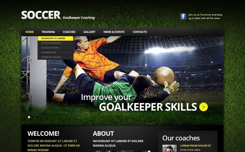 Soccer Responsive Website Template New Screenshots BIG