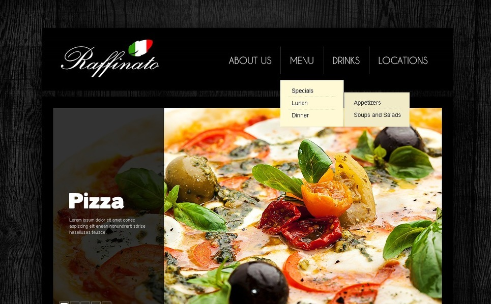 Italian Restaurant Responsive Website Template New Screenshots BIG