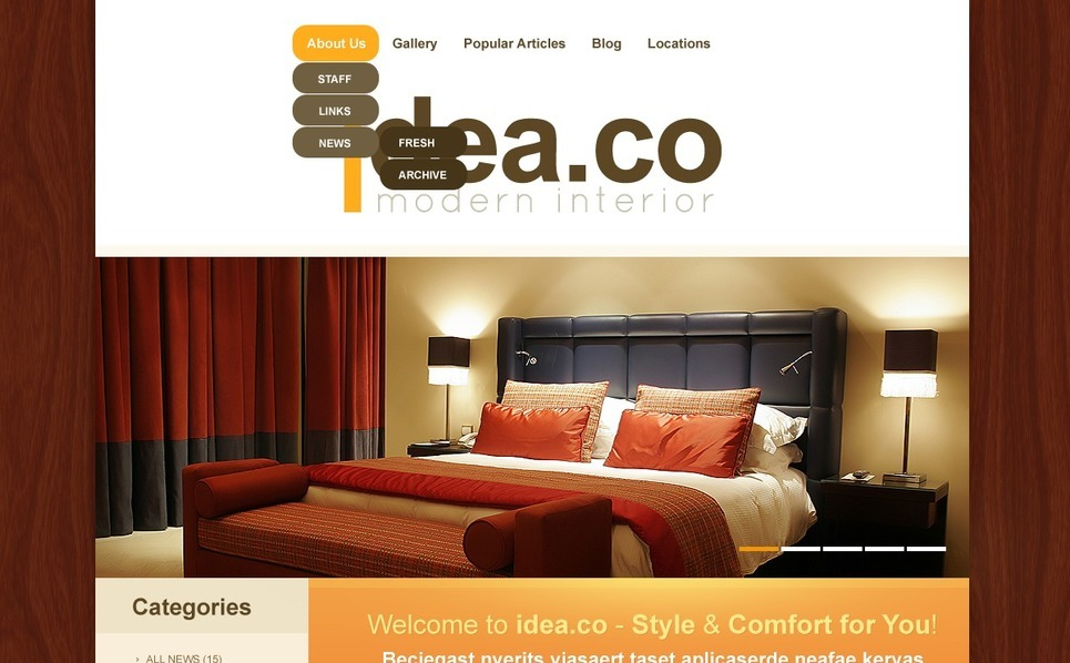 Interior & Furniture WordPress Theme New Screenshots BIG