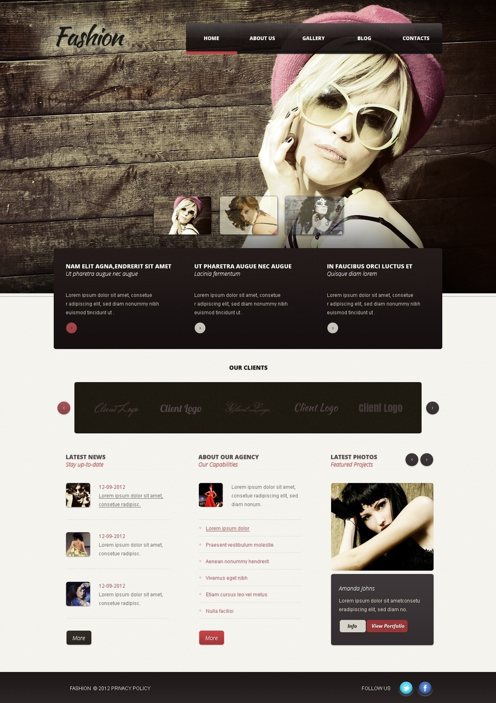 Fashion WordPress Theme New Screenshots BIG