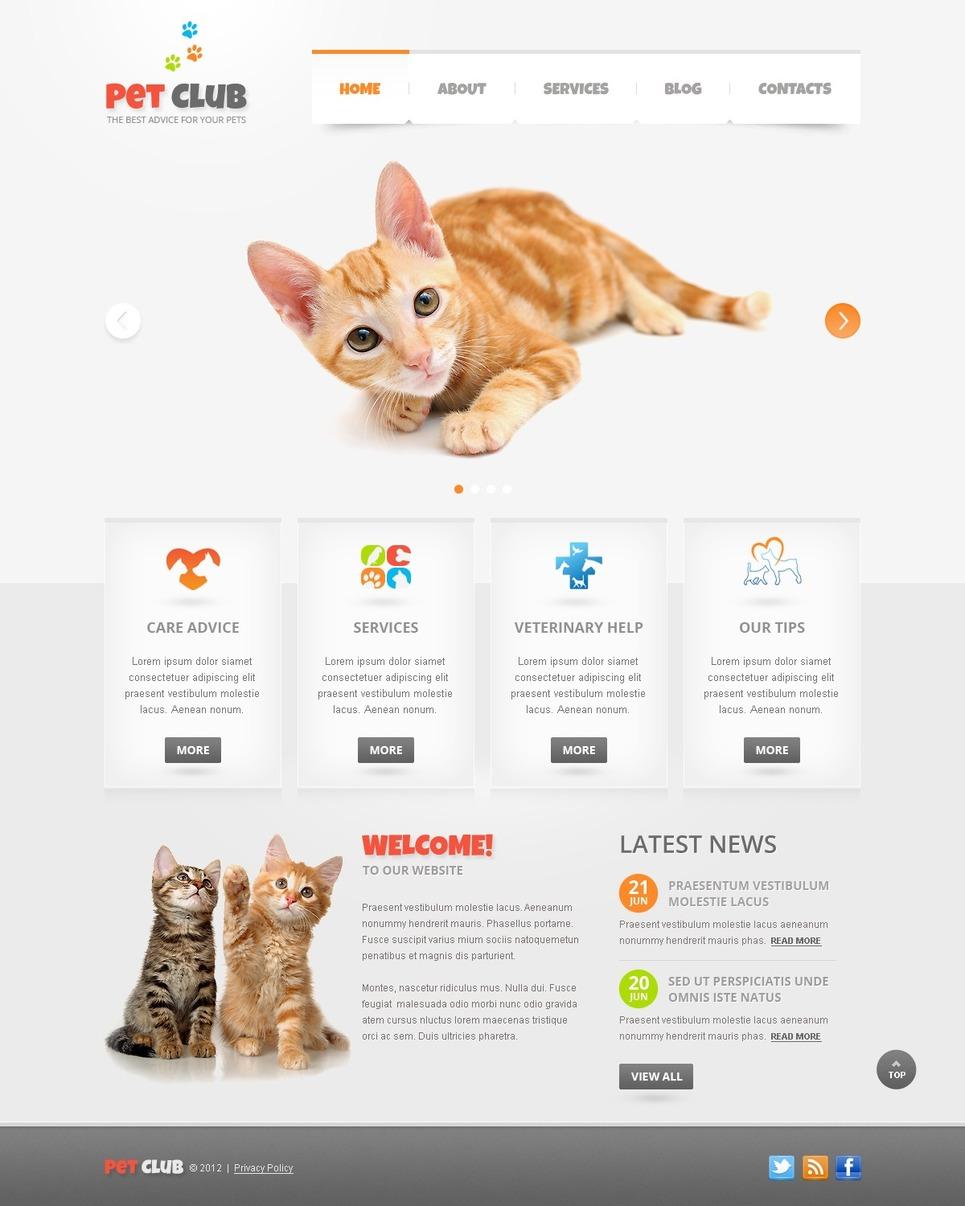 Animals & Pets WordPress Theme New Screenshots BIG