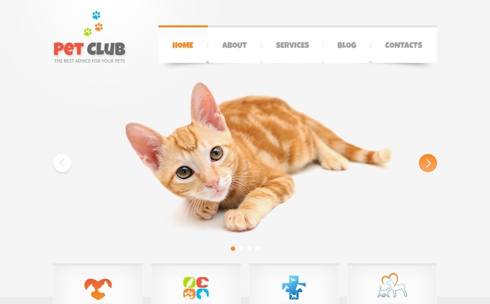 Animals & Pets WordPress Theme New Screenshots BIG