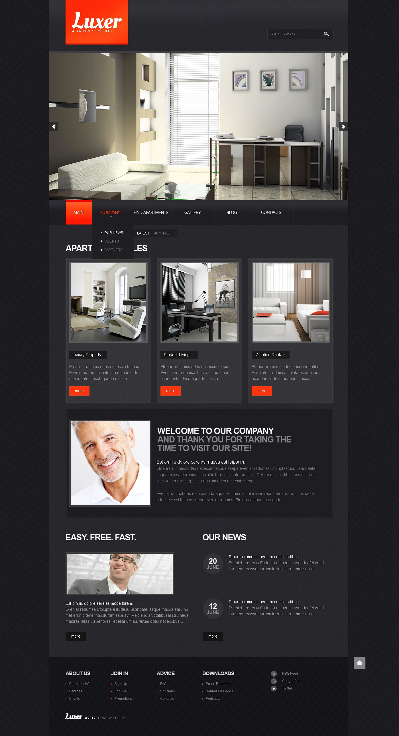 Real Estate Agency Drupal Template 39490