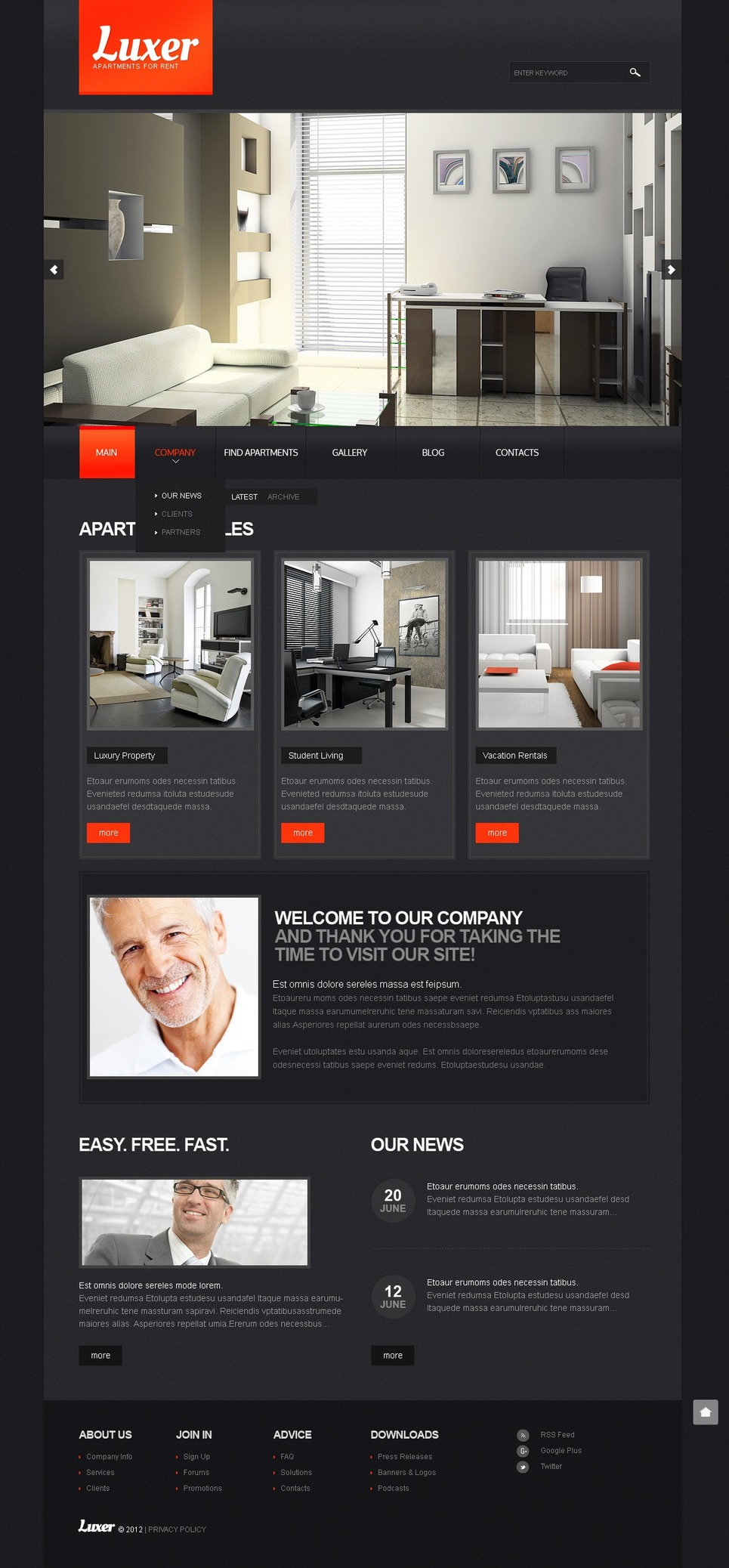 Real Estate Agency Drupal Template New Screenshots BIG