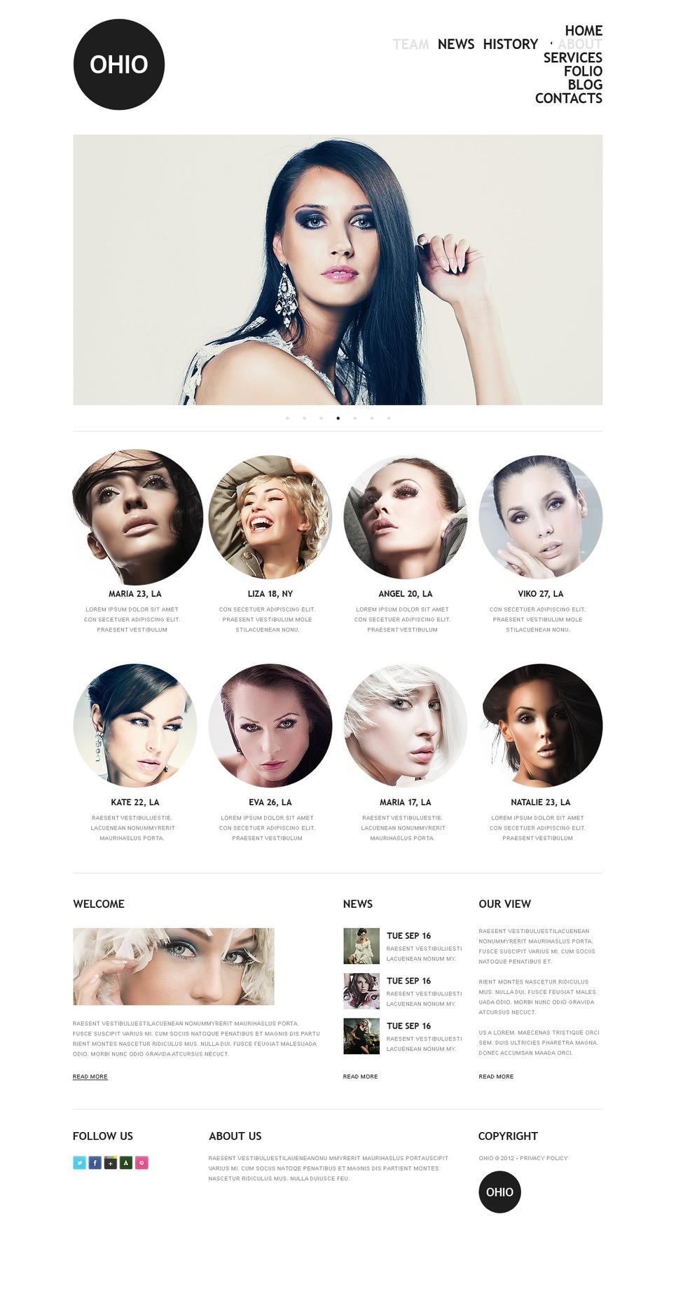 Model Agency Drupal Template New Screenshots BIG