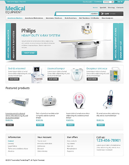 Medical equipment - Utmost Online Medical and Pharmacy Store PrestaShop Theme