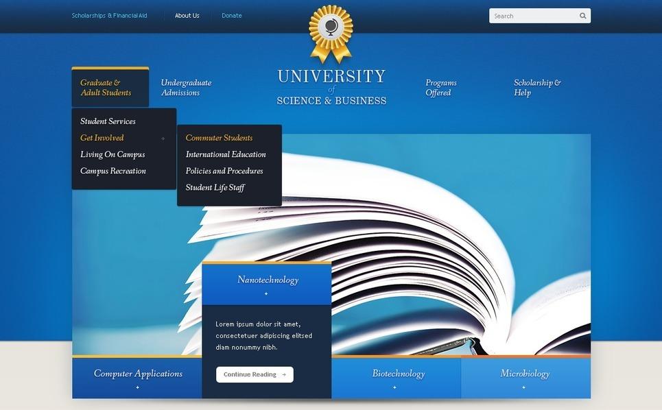 University Joomla Template New Screenshots BIG