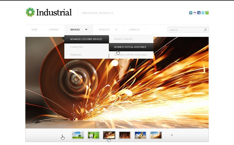 Industrial Responsive Website Template New Screenshots BIG