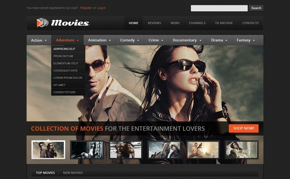 Movie Website Template New Screenshots BIG