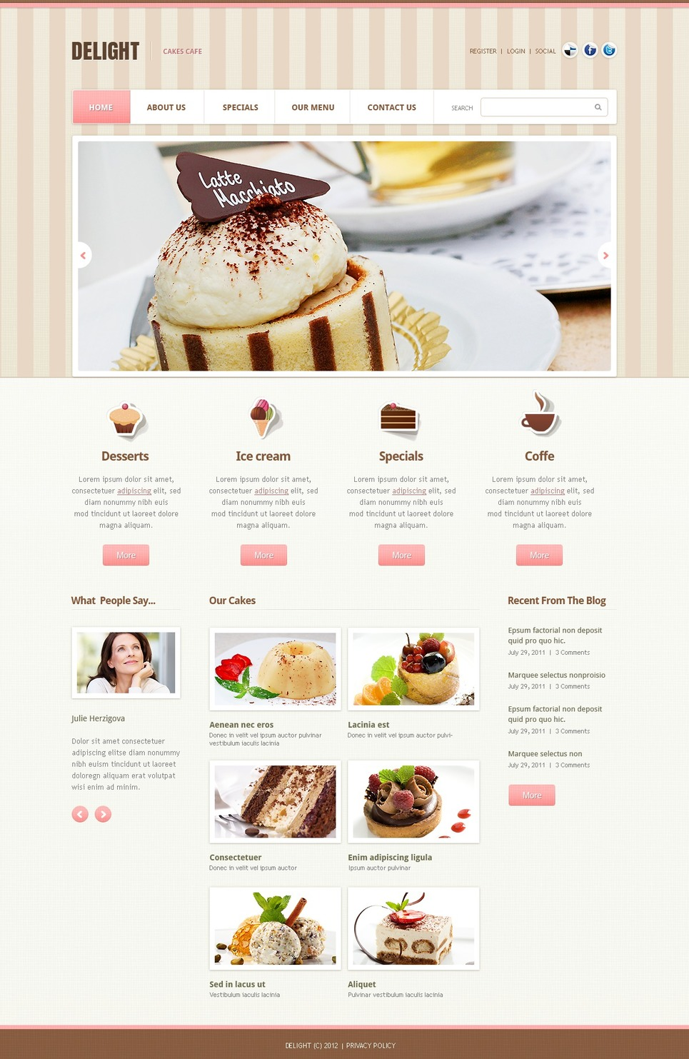 Cafe Website Template New Screenshots BIG