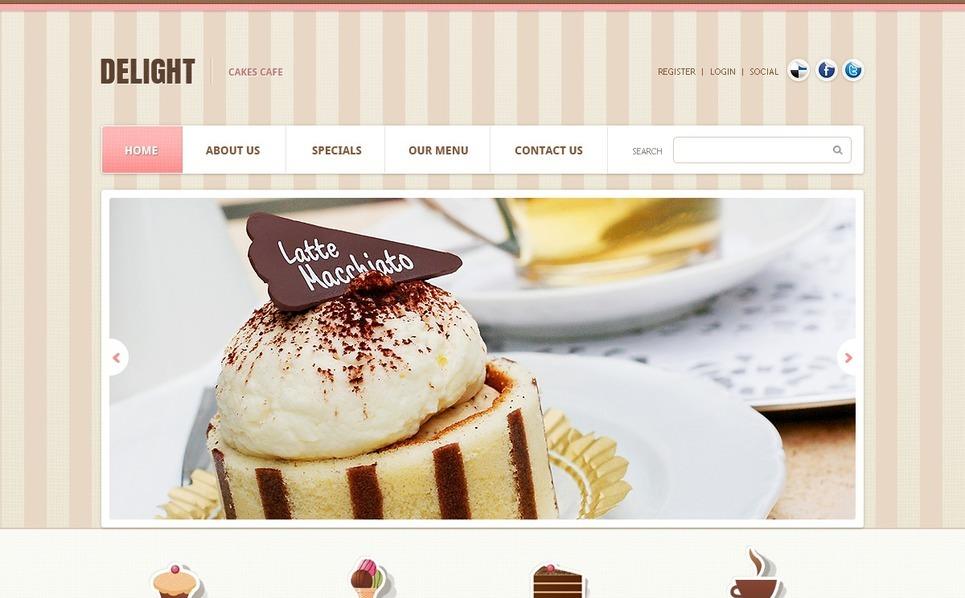 Cafe Website Template New Screenshots BIG