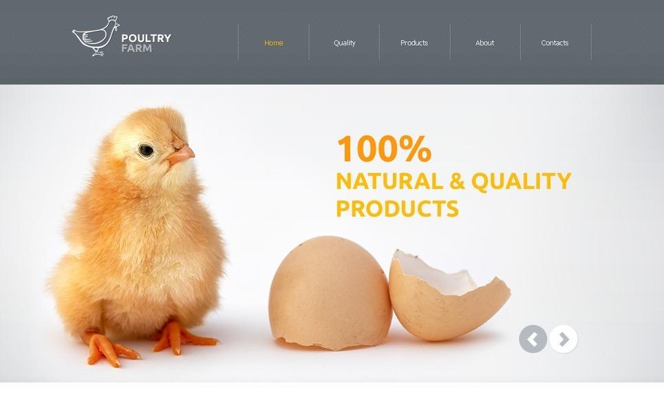 Poultry Farm Website Template New Screenshots BIG